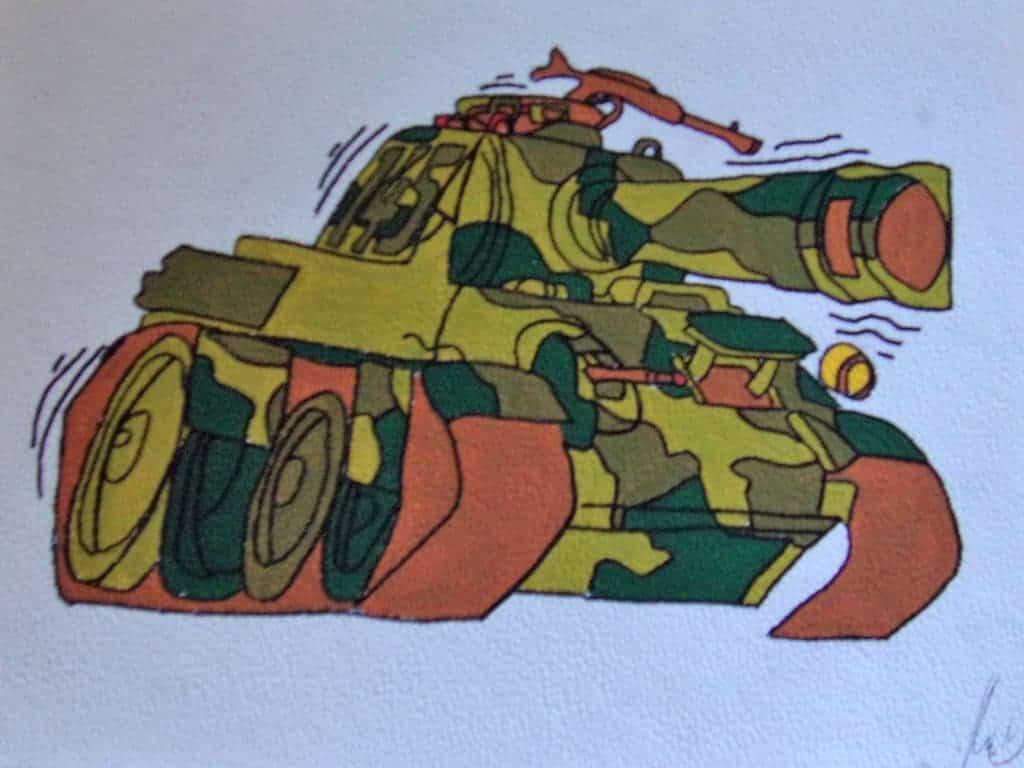 El tanque. Por Kefrem.