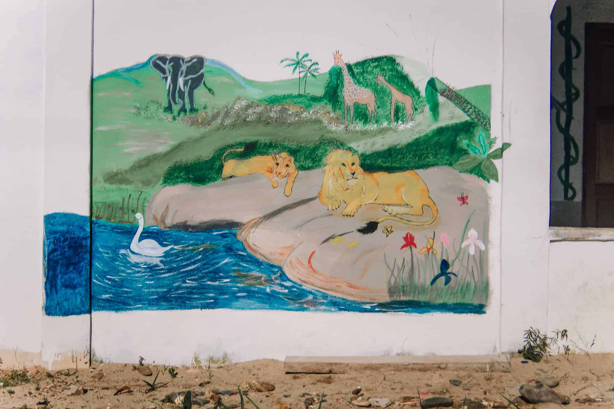 Wall painting of animals