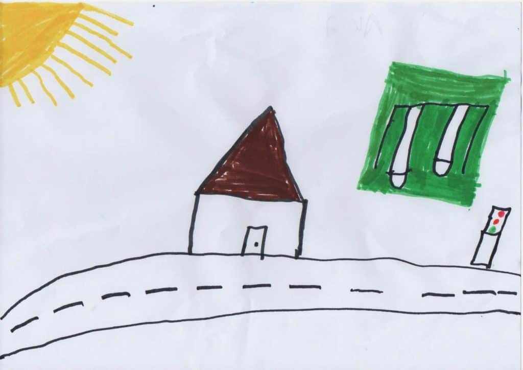 Drawing of Ali's house in Iran.